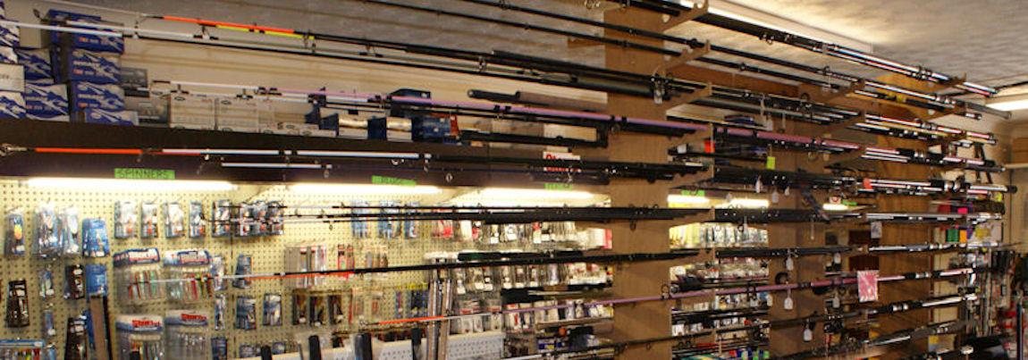 A wide range of fishing equipment